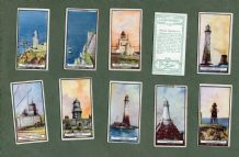 Tobacco cigarette cards set Lighthouses 1926, Land's End,Whitby,The Needles,